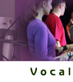 Vocal Process Banner showing group work and the physicality of supporting your voice